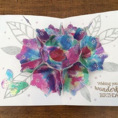 Pop-up flower card