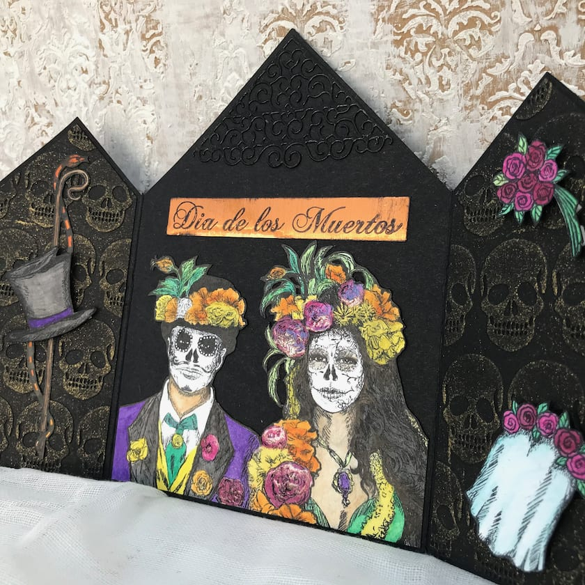 Day of Dead Gatefold Card