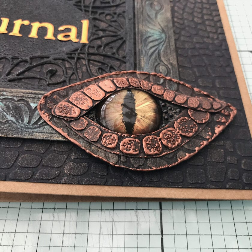 Dragon cover for a junk journal